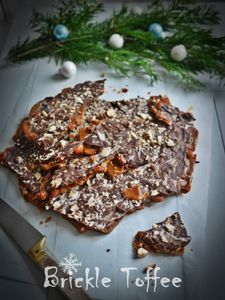 Chocolate brickle toffee {cadeaux gourmands}