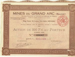 Les mines du Grand Arc