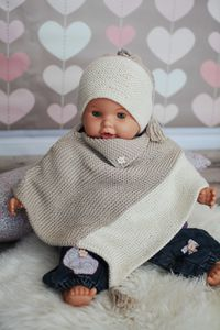 Baby poncho made of organic cotton