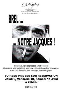 Brel... Notre Jacques ! à L'Arlequino