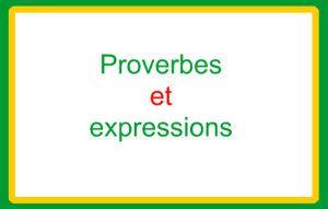 Expressions et proverbes du mois : ACTE 2
