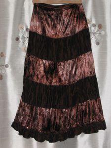 jupe longue jupon velours satin marron pour les fêtes