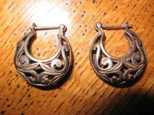 Boucles d'oreille créoles fantaisies en argent