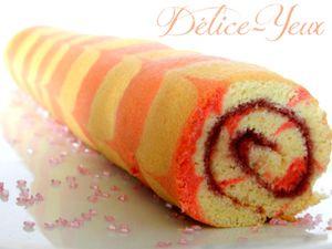 Gâteau roulé à la confiture - {Octobre Rose}