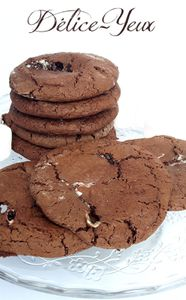 Cookies chocolatés aux Chamallows