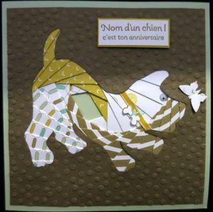 Iris folding : le chien