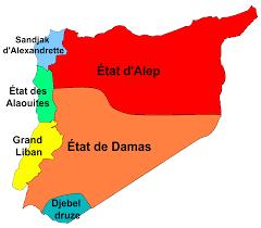 Carte de la Syrie (mandat français)