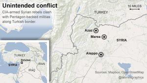 En Syrie, des milices armées par le Pentagone combattent celles armées par la CIA  .