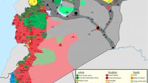 Principales étapes de la guerre en Syrie et en Irak depuis août 2014 contre le groupe jihadiste Etat islamique (EI).