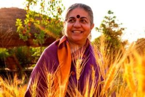 Dr. Vandana Shiva scientifique, écologiste et auteure.