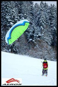 Saison de snowkite ouverte à Autrans