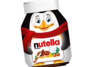 pot de nutella des fêtes 2014-2015 pingouin de madagascar