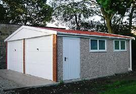 What is Pent Roof Concrete Garage?