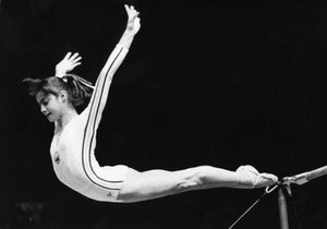 Olympic gymnast Nadia Comaneci gives advice to startups : As an entrepreneur and a gymnast, you have to be UNWILLING TO STOP