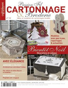 Passion Fil Cartonnage &amp&#x3B; Broderie n°13 !