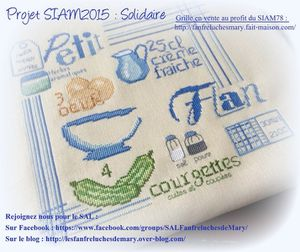 Projet SIAM 2015 : l'ouvrage brodé