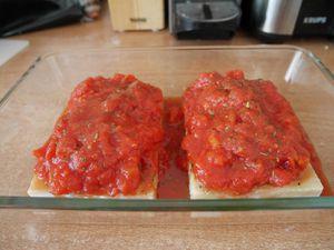 Poisson à la crème et tomates
