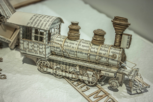 Thomas Wightman - Livre-sculpture - Derailing my train of thought