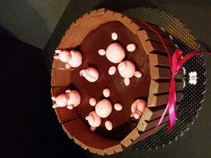 gâteau marre au cochons