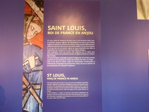 Saint Louis et l'Anjou. Château d'Angers