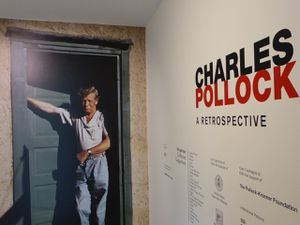 Charles et Jackson Pollock se retrouvent chez Peggy Guggenheim à Venise