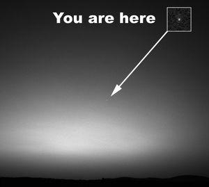 La Terre vue de Mars !