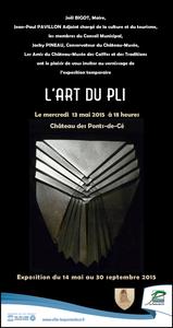 &quot&#x3B; L'art du pli &quot&#x3B; aux Ponts de Cé (49) du 14 mai 2015