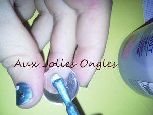 Bague assortie aux nail art