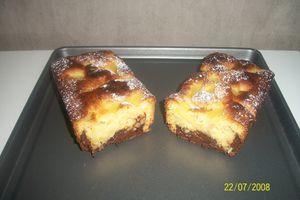 mon cake gourmand ananas/coco et son coeur coulant chocolat