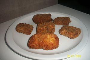 croquettes de riz au lait au chocolat et zeste d'orange