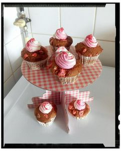 muffins aux pralines rose et chantilly coco