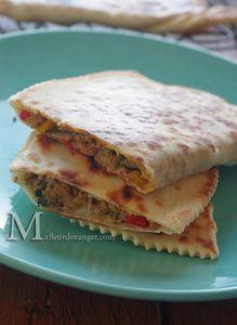 Gozleme (Turkish Pancake with meat)