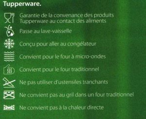 Pictogrammes Tupperware