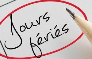 Quelles sont les dates des jours fériés en2015?