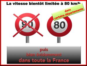 Vitesse maximale autorisée abaissée à 80km/h sur trois tronçons routiers à partir de cet été
