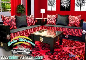 Salon marocain rouge foncé - Caftan 2015 | robe de soirée et marié