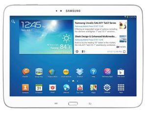 Promo -20% : Samsung Galaxy Tab 3 Tablette tactile 10.1&quot&#x3B; Processeur Intel Atom dual-core 1,6 GHz 16 Go Android Jelly Bean 4.2.1 Bluetooth WiFi Blanc
