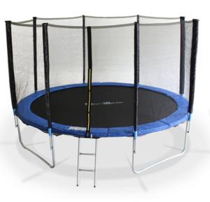 Promo : Trampoline rond 370 cm avec filet, échelle et bâche