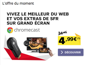 Chromecast disponible chez SFR à partir de 4,99€