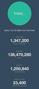 Pour savoir ce qui se passe sur Internet en 60 secondes, cliquez ici.