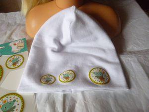 Bonnet de naissance en jersey