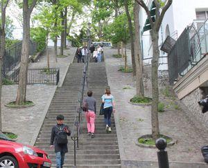 Rue Lamarck. Montmartre. (début).
