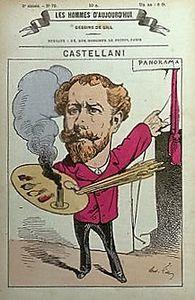 Castellani caricaturé par son ami Gill
