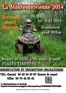 Rando quad, LA MONTESQUIVIENNE (82) le 1 mai 2014