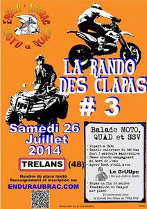 La rando des Clapas Moto, Quad, SSV à Trelans (48) le 26 juillet 2014