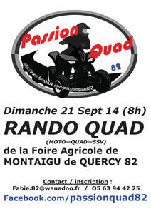 Rando moto, quad et SSV de Passion Quad (82) le 21 septembre 2014