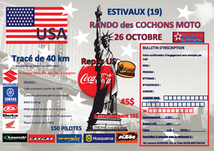 Rando moto des cochons de l'EMSE (19) le 26 octobre 2014