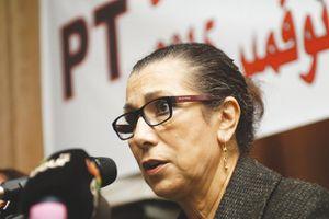 Louisa Hanoune, secrétaire générale du Parti des travailleurs. © Archives Liberté