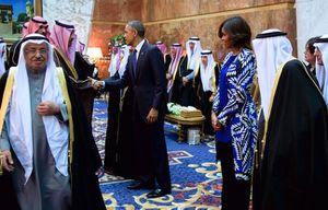 Michelle Obama cheveux découverts en Arabie Saoudite