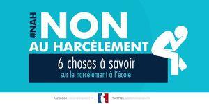Harcèlement à l'école: journée de mobilisation du 5 novembre 2015